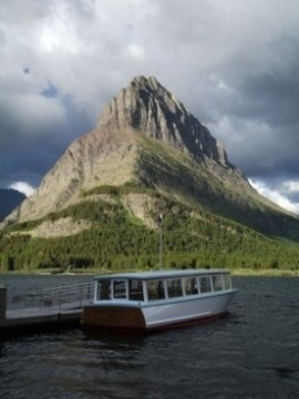 Chief Two Guns on Swiftcurrent Lake
