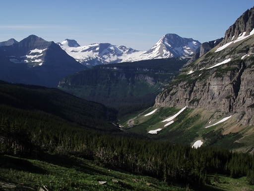 Jackson Glacier and Blackfoot Glacier
